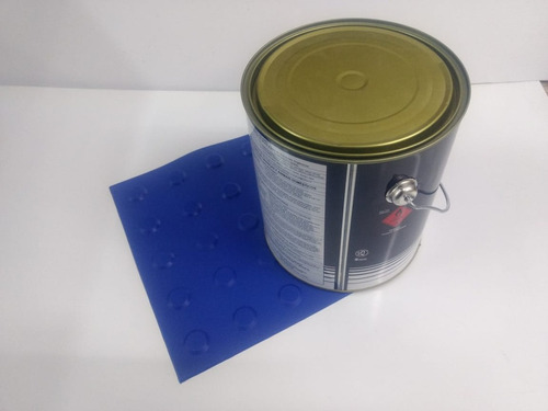 Imagem 1 de 1 de 70 Pçs Piso Direcional Azul Pvc + 1 Lata Cola 2.8kg