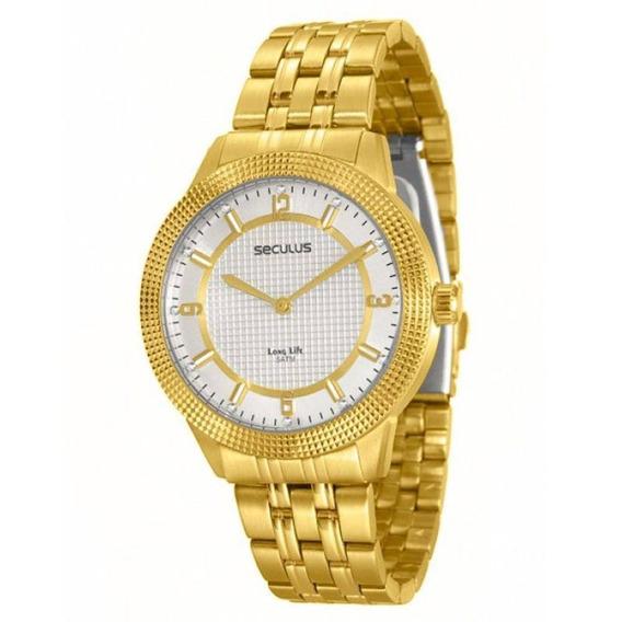 Relógio Seculus Feminino Long Life Analógico 20240lpsvda1