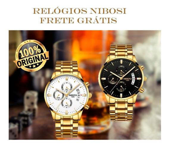 Relógio Masculino Modelo 2309 Nibosi Cronógrafo