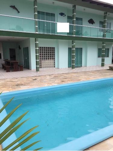 Imagem 1 de 21 de Casa Mobiliada Com 04 Suítes + 04 Dormitórios, Piscina, Quiosque Com Churrasqueira, Praia Do Estaleiro, Balneário Camboriú, Sc - Ca00013 - 68779164