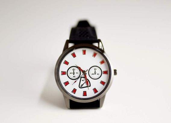 Relógio Masculino Em Aço Pulseira Em Silicone