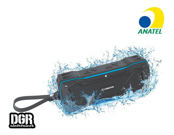 Caixa Som Portátil Bluetooth Kimaster Resistente À Água