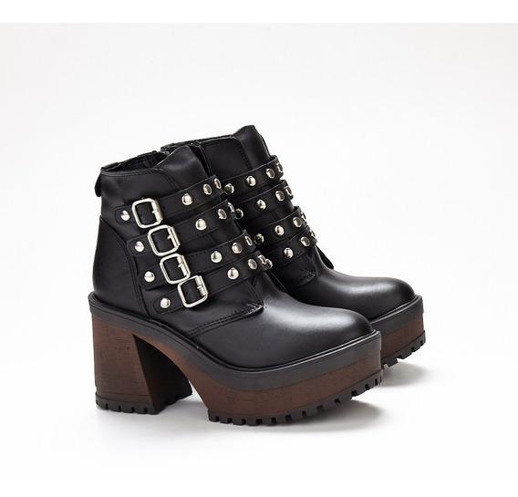 Botas Mujer Plataforma Cuero Savage Mr-102 Zona Zapatos