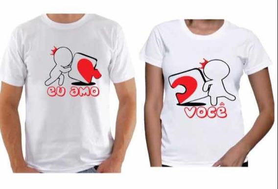Camiseta Dia Dos Namorados Eu Amo Você