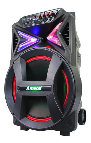 Caixa De Som Amplificada Bluetooth Amvox Aca 400 Strondo