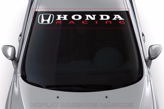 Adesivo Faixa De Parabrisa Honda Racing Tuning Japonês