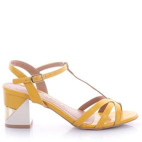Sandália 0393 Verniz Amarelo