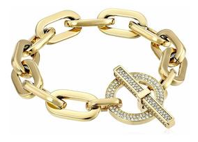 Pulseira Bracelete Michael Kors Dourada Mkj4586710