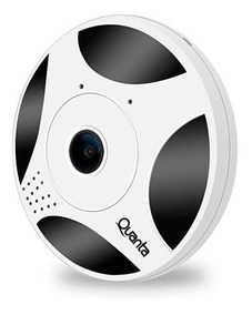 Câmera Ip 360º Wi-fi - Lente Olho De Peixe Quanta Qtlcid360