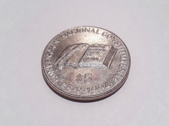 Moneda Argentina $5 Convención Nacional Constituyente 1994