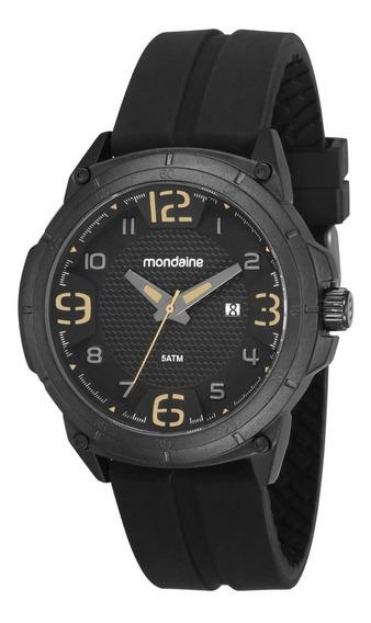Relógio Masculino Mondaine 53666gpmvpi1 48mm Silicone Preto