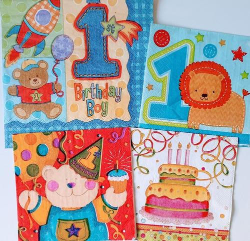 Servilleta Decoupage Set Feliz Cumple Laura Craft