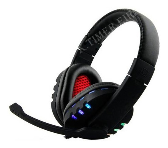 Fone D Ouvido Headset Gamer C/ Led 7.1 Usb Microfone Pc Xbox