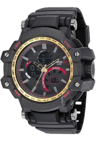 Relógio Masculino Speedo 81175g0evnp1 55mm Borracha Preto