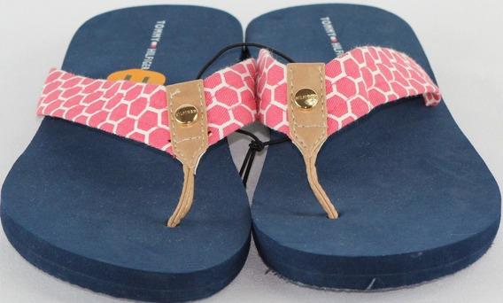 Sandalia De Vestir Para Dama Tommy Hilfiger Mod. 1 Azul/rosa