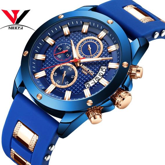 Relógio Masculino Nibosi 2333 Original Silicone Oferta