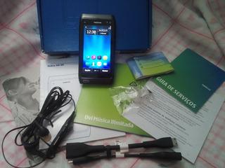 Celular Nokia N8 Cinza Com Todos Os Acessórios E Funcionam.