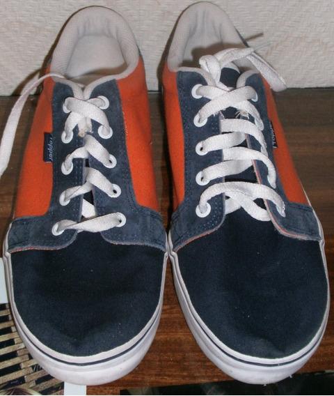 Zapatillas Naranja Y Azul. Nº 43. Marca: Topper
