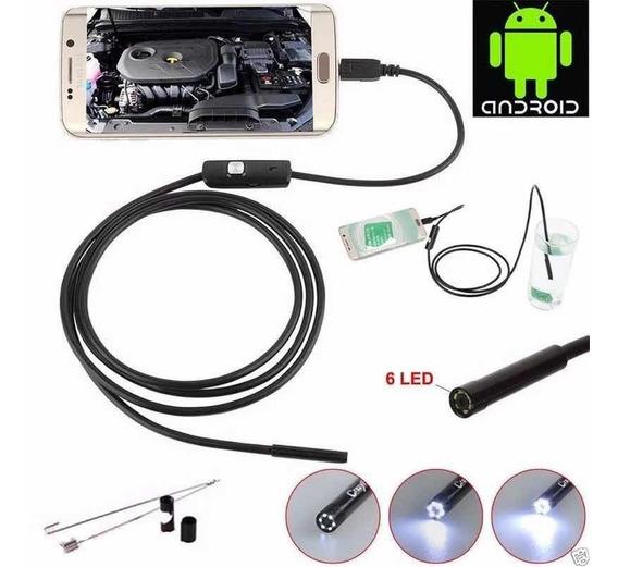 Câmera Mini 1m Calular Android/pc Usb Prova Dagua