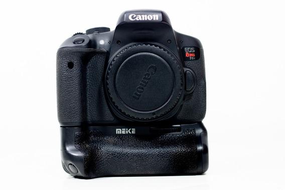 Canon T6i + Lente Do Kit 18-55mm + Grip Meike