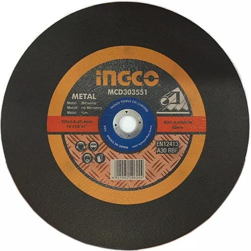 Imagen 1 de 2 de Disco De Corte 14'' Sensitiva Ingco Para Metal Mcd303551