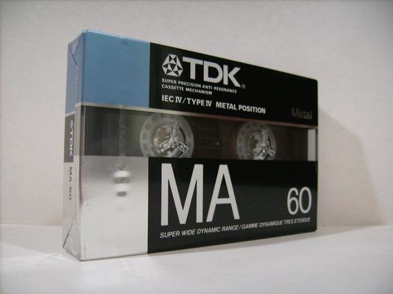 Fita K7 Tdk Ma60 - Metal - Made In Japan - Lacrada