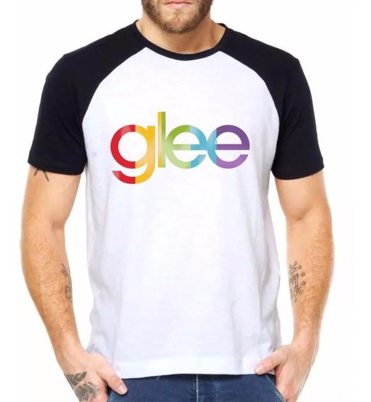 Camiseta Raglan Glee Série Seriado Música Tv Estilo Swag