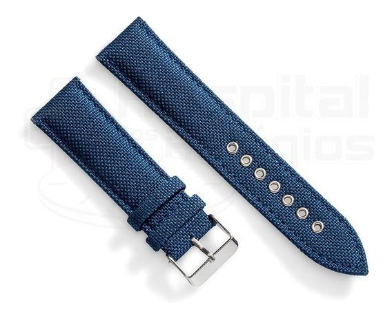 Pulseira Nylon Cordura Azul Militar 24mm C/ Engate Rápido