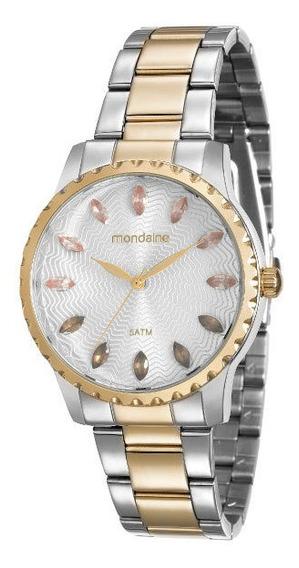 Relógio Mondaine Feminino Prata/dourado Bicolor 99170lpmvbe3