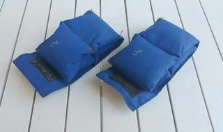 Caneleiras / Tornozeleiras Azuis De 1kg