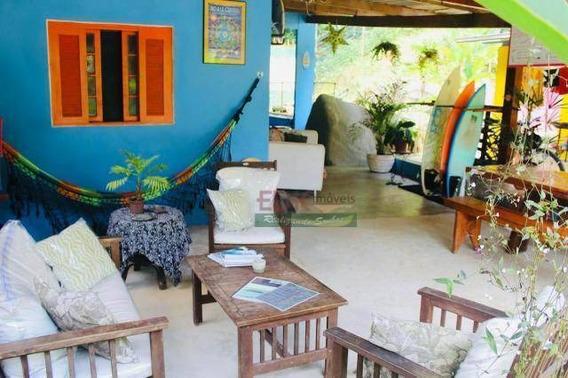 Pousada Com 6 Dormitórios À Venda, 250 M² Por R$ 880.000,00 - Praia Do Itamambuca - Ubatuba/sp - Po0021