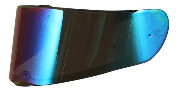 Viseira Capacete Ls2 Vector Ff397 Iridium Rainbow Camaleão