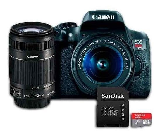 Câmera Canon T6i Kit Premium + 16gb + Bolsa