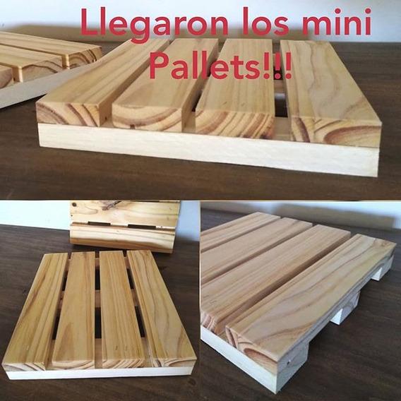 Alquiler Mini Pallets Candy Bar Mesa Dulce Bandejas Madera Posa Tortas Bandeja