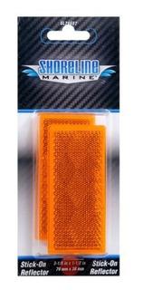 Shoreline Marine Stick-on Trailer Reflector, Amber