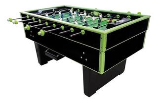 Futbolito Diversiones Bago Super Reforzado color negro/verde con jugadores de hierro vaciado y bolas incluidas