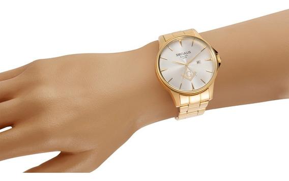 Relógio Seculus Masculino 35012gpsvda1 Maçonaria