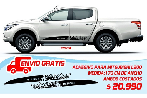 Adhesivos Para Mitsubishi L200, Ambos Costados.
