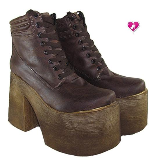 Borcego Acordonado Plataforma Aw19 Mod Karen 3 Shoes Bayres