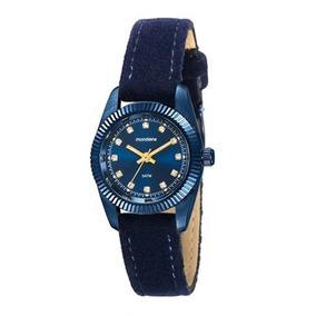 Relogio Feminino Azul Mondaine Pulseira Camurça 99062lpmveh