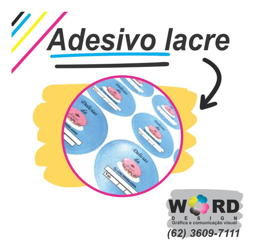 Imagem 1 de 1 de 500 Adesivos Redondo 5x5