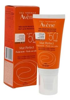 Avene Protector Solar 50+ Antestoque Seco Fluido Mat C/color