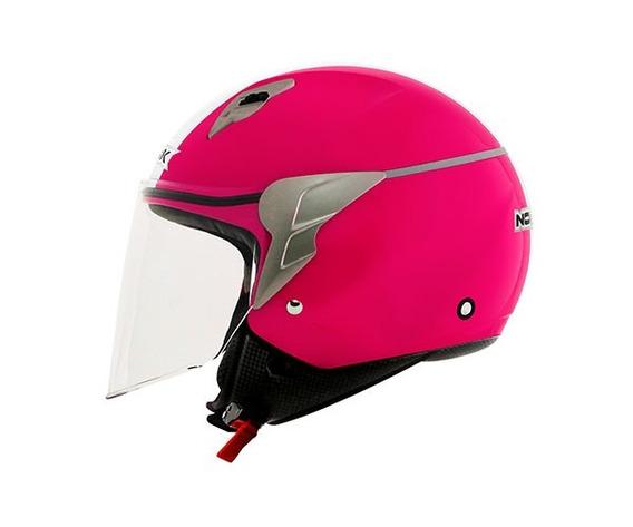 Capacete Norisk Jet Linea Pink / Branco