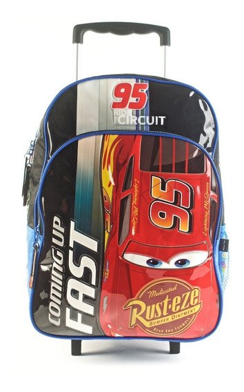 Mochila Cars Coming Up Fast Con Carro 16