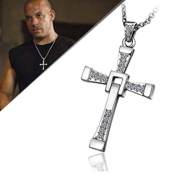 Crucifijo Toretto Cadena Acero Inoxidable Rapido Y Furioso