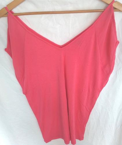 Remera Musculosa Zara Original Rosa ++
