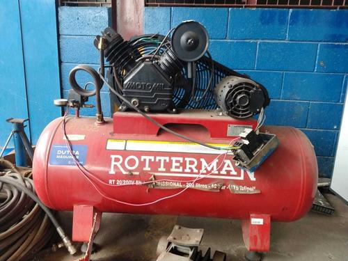 Compressor Marca Rotteman 200lts, 12 Bar, Ano 2015