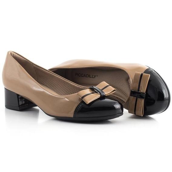 141077 Sapato Salto Médio Com Tope Piccadilly
