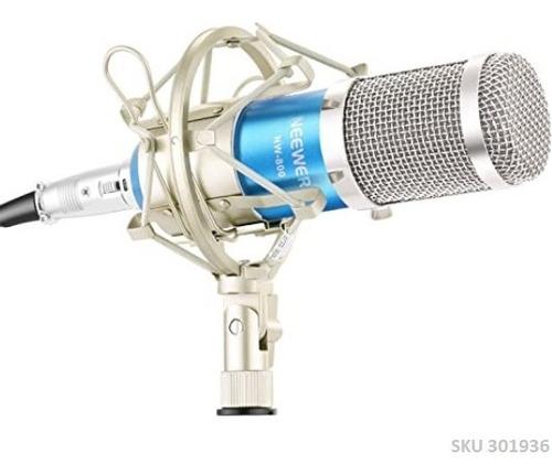 Microfono Condensador Neewer Nw-800 Azul Plateado