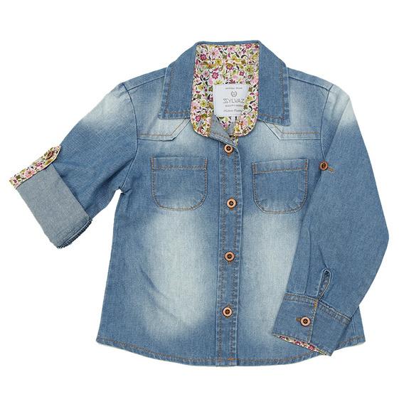 Camisa Jeans Para Menina Infantil Linda P Ao 1